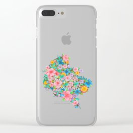 Flourished Map of Bucharest Clear iPhone Case