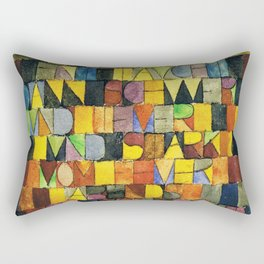 Paul Klee Once Emerged from the Gray of Night Rectangular Pillow