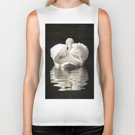 Swans wings wide open Biker Tank