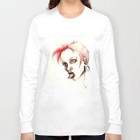 rebel Long Sleeve T-shirts featuring rebel by cistus skamberji