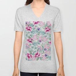 Floral Pattern 3 Unisex V-Neck