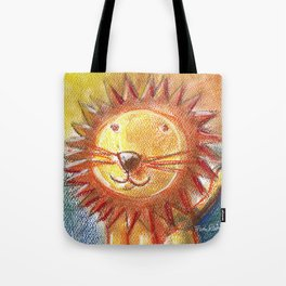 Lion For Children Pastel Chalk Drawing Tote Bag