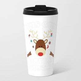 This Girl Loves Christmas Travel Mug
