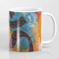 om Mugs featuring Om by Michael Creese