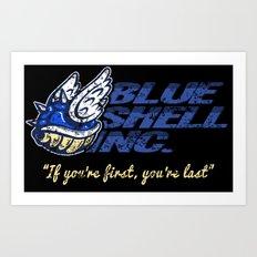 Mario Kart: Blue Shell Inc. Art Print