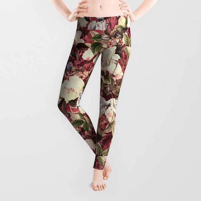 Abstract floral pattern Leggings