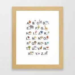 Alphabet for children Framed Art Print