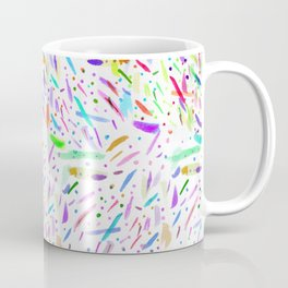 Modern colorful watercolor abstract brushstokes Coffee Mug