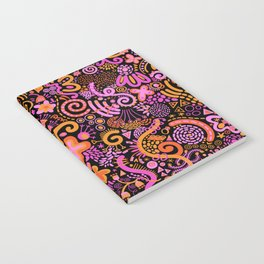 Pink Orange Yellow Zendoodle Notebook
