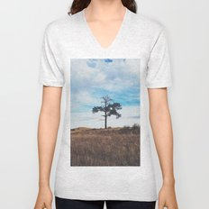 Lonely Tree Unisex V-Neck