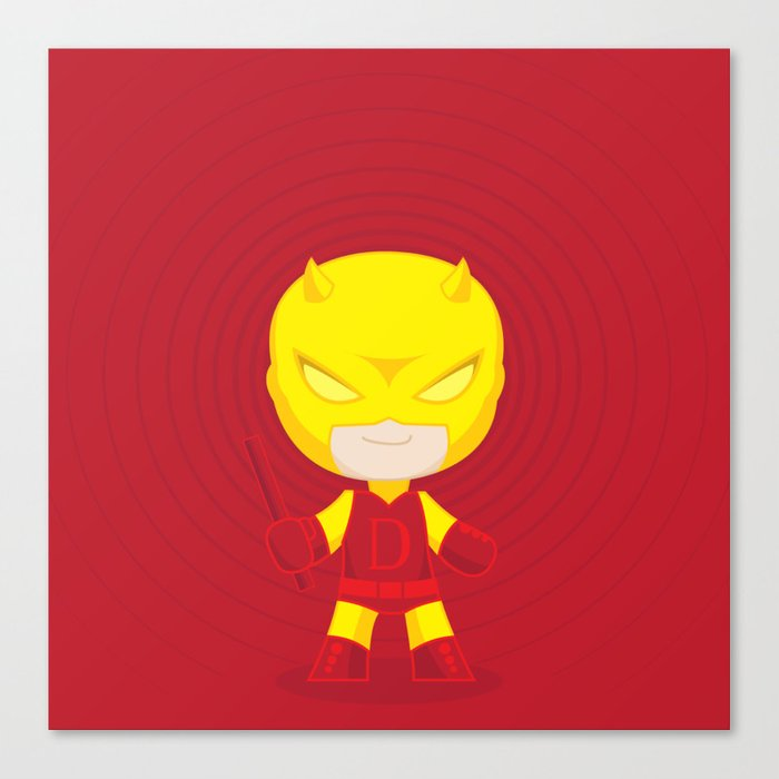 Daredevil Yellow Canvas Print