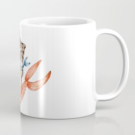 Cute Purrmaid Cat Mermaid Coffee Mug