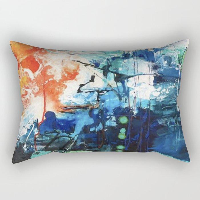 Colors Collide Rectangular Pillow