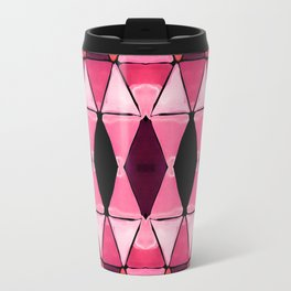 Art Deco Triangles Hot Pink Travel Mug
