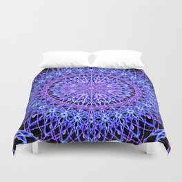 Beads of Light Mandala Duvet Cover