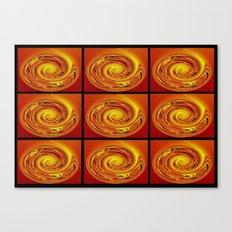 Abstract Collage Orange Art. Canvas Print