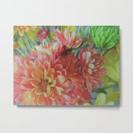 Fall Mum Bouquet Metal Print