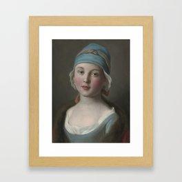 Pietro Antonio Rotari (1707-1762) - Portrait Of A Russian Girl Framed Art Print