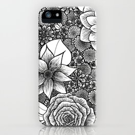 Nouveau Inspired Flowers iPhone Case