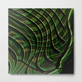 Green wave ,green Metal Print