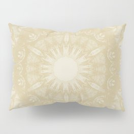 Peaceful kaleidoscope in beige Pillow Sham