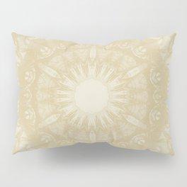 Peaceful kaleidoscope in beige Pillow Sham