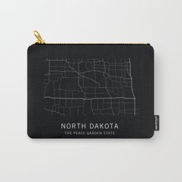 North Dakota State Road Map Carry-All Pouch