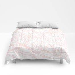 Pink line doodle single line Comforters