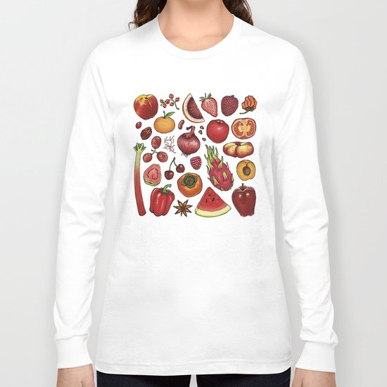 Red Food Long Sleeve T-shirt