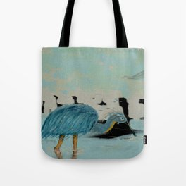 Water Hunter in a Overcast Dusk Tote Bag