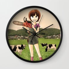 Happy Burger Restaurant  Wall Clock