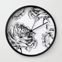 roses Wall Clocks featuring Roses  by Caitlin Workman