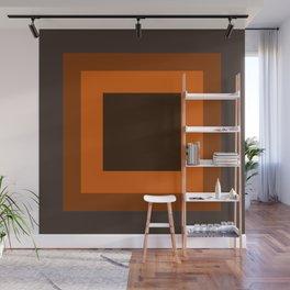 Dark Orange Square Design Wall Mural