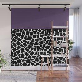 British Mosaic Purple Boarder Wall Mural