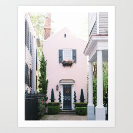 Charleston Pink House Art Print