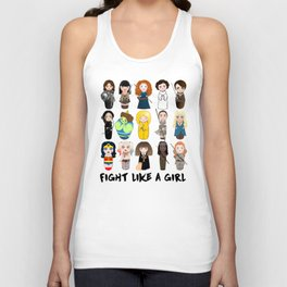 Kokeshis Fight like a girl Unisex Tank Top