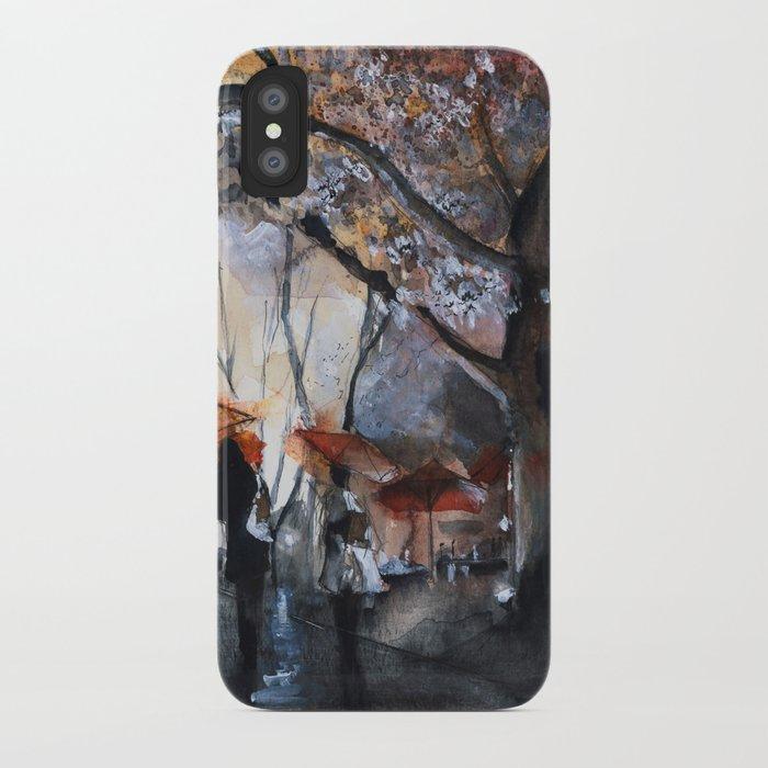 Watercolor painting - Autumn rain - iPhone Case