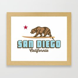 San Diego. Framed Art Print