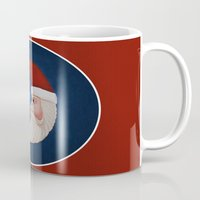santa Mugs featuring Santa  by Brandy Coleman Ford