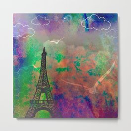 Parisian Reverie Metal Print