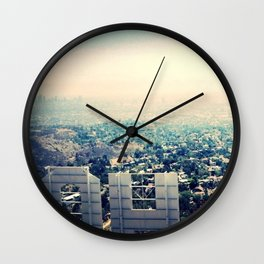 From over the Hollywood Sign Wall Clock