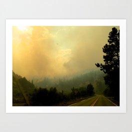 Yellow Fog Art Print