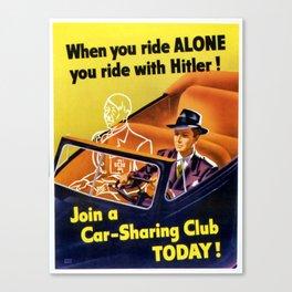 Vintage poster - Car-Sharing Club Canvas Print