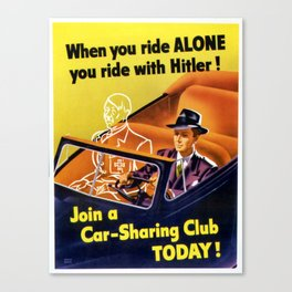 Vintage poster - Car-Sharing Club Canvas Print