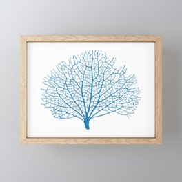 blue sea fan coral Framed Mini Art Print