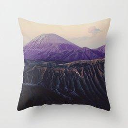 Majestic Bromo volcano, Indonesia Throw Pillow