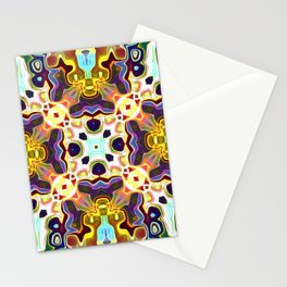 Rainbow Color Abstract Pattern SB85 Stationery Cards