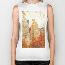 Autumn - Central Park - Fall Foliage - New York City Biker Tank