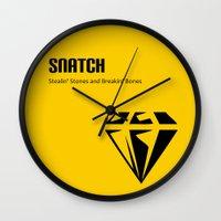 snatch Wall Clocks featuring Snatch by Arian Noveir