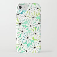 daisies iPhone & iPod Cases featuring Daisies by messy bed studio